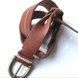 """American Eagle Brown Twisted Leather 40"""" belt"""